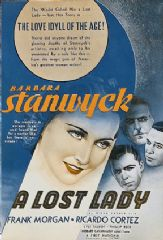 A Lost Lady 1934 DVD - Barbara Stanwyck / Frank Morgan